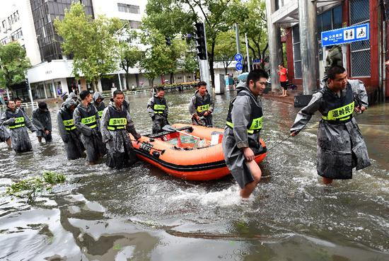 China battles powerful Typhoon Lekima