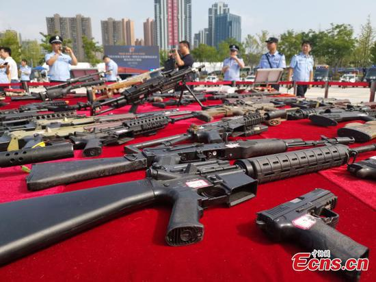 Chinese police destroy 107,000 firearms