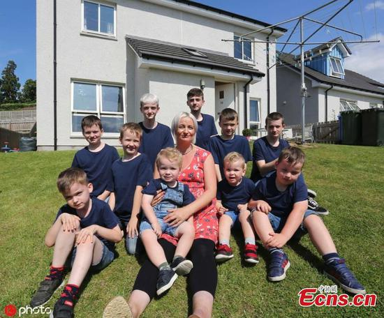 Mum of 10 sons welcomes first daughter