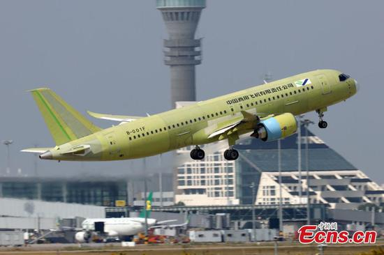 Fifth C919 plane completes first test flight