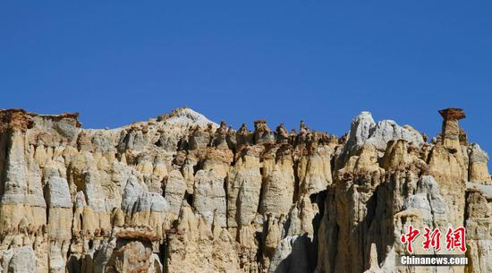 Scenery of Earth Forest Geopark in Tibet