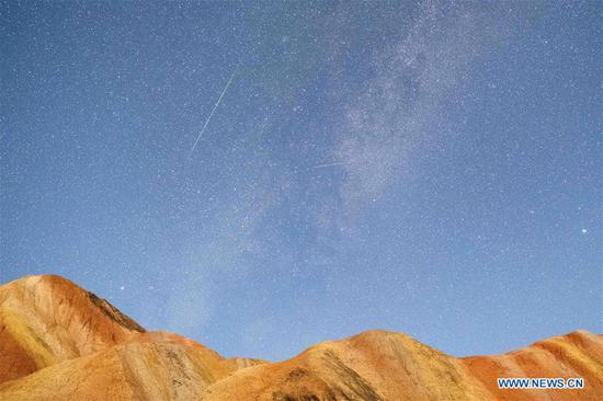 In pics: Perseid Meteor Shower in China's Gansu