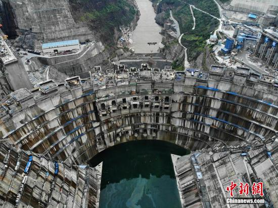 World's second largest hydropower station under construction in SW China