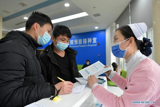 Jiangxi begins COVID-19 vaccination among key groups